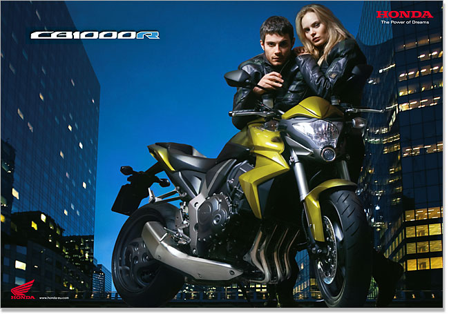 Honda CB1000R launch poster