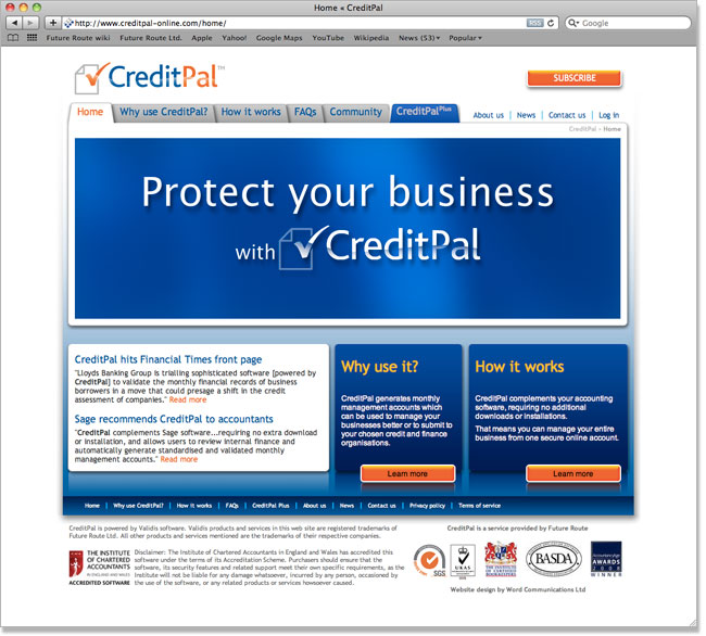 CreditPal website screenshot