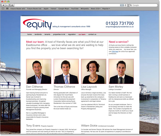 Equity Residential website screenshot